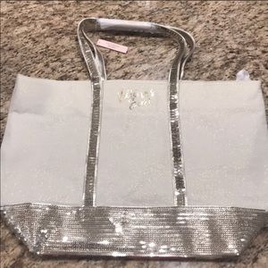 Victoria's Secret sequined tote. Gold
